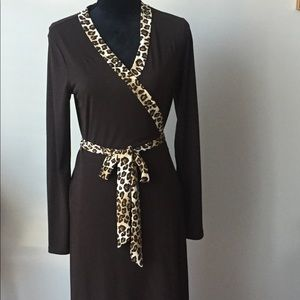 Brown and Leopard Michael Kors dress